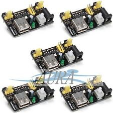 5 X 5x MB102 Power Supply Breadboard Module 3.3V 5V  Arduino Education UK C106