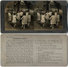 BLIND MANS BLUFF, GIRLS & BOYS PLAYING STEREOVIEW