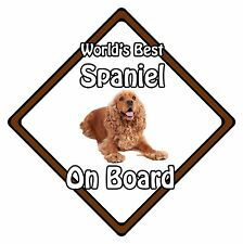 Non Personalised Dog On Board Car Safety Sign – World's Best Cocker Spaniel