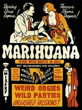 PROPAGANDA DRUG ABUSE MARIJUANA WEED WEIRD COOL ART POSTER PRINT LV6972
