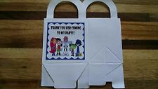 12 TEEN TITANS GO loot boxes/bags birthday party favor treat, CUSTOMIZE IT!