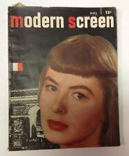 Modern Screen Magazine   May 1947    Ingrid Bergman Cover