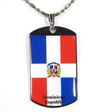 Dominican Republic Flag Polymer Glazed Dogtag Dog Tag