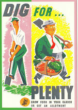 ROBERT  OPIE  ADVERTISING  POSTCARD  -  DIG  FOR  PLENTY