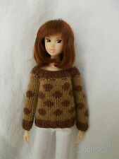 sweater with pois available for momoko,pullip,fashion royalty, barbie, blythe...
