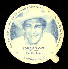 1952 DIXIE CUP NELSON'S ICE CREAM FORREST TUCKER TV MOVIE STAR NM LID FREE SHIP