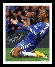 DIDIER DROGBA - CHELSEA AUTOGRAPHED SIGNED & FRAMED PP POSTER PHOTO