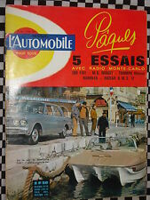 revue L'AUTOMOBILE 1963 FIAT 500 D / MG MIDGET / TRIUMPH VITESSE / RAMBLER