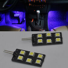 4x Error Free F&R Blue footwell Lights SMD LED For Audi A4 S4 B8 2008-2015