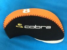 Cobra Neoprene Golf Iron Head Covers 10pc Set Orange/Black *USA SELLER*