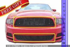 GTG 2013 - 2014 Ford Mustang V6 2PC Gloss Black Replacement Billet Grille Kit