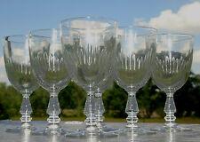 Service de 6 verres à eau en verre taillé, modèle gout de Baccarat jeux d'orgue