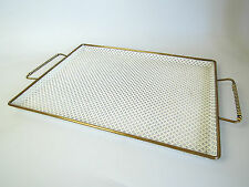 VINTAGE SERVING TRAY PERFORATED METAL MATEGOT? MODERNIST MID CENTURY ATOMIC 50s