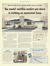 1953 vintage Ad, Economical Homes built with CELOTEX products  101813