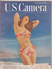 AUG 1950 U.S. CAMERA photography magazine - SWIMSUIT MODEL