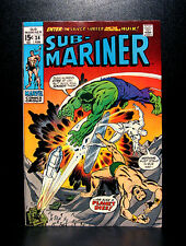 COMICS: Sub-Mariner #34 (1971), 1st Titans 3 app/prelude to 1st Defenders story