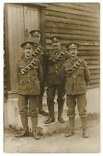 WW1, 4 RGA Other Ranks From 196 Siege Battery, Probably at Lydd Camp,c 1916