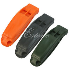 Outdoor Camping Hiking Emergency Double-frequency Survival Whistle Random Color
