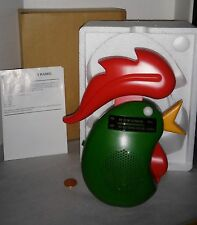 Kellogg's Rooster head logo Radio with stand mint in box shower radio nice