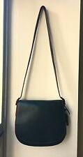 NWT Coach 1941 Glove Tanned Black Leather Oxblood Leather Lining Saddle Bag