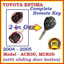 TOYOTA ESTIMA / TARAGO REMOTE KEY JAPANESE VERSION ACR30 4 BUTTONS - 2 in 1