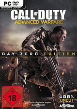 * Call of Duty: Advanced warfare-Day zero Edition * pc * DVD * NOUVEAU & OVP *