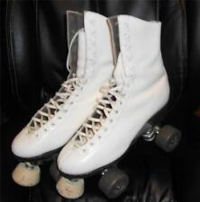 ✨RIEDELL WOMENs Sz 6 SURE-GRIP 99P ROLLER DERBY 4-Wheelers LEATHER Skates  WHITE
