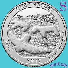 2017-S EFFIGY MOUNDS NATIONAL MONUMENT (IOWA) QUARTER U.S. MINT UNCIRCULATED