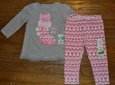 Jumping Beans Long Sleeve Baby Doll T-Shirt Top with Velour Pants Size 18 Months