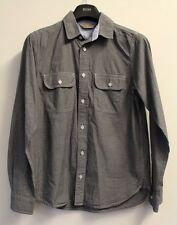 Carhartt Long Sleeve Blue Cotton Chambray Shirt, Size Small, VGC