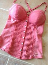 Guess Pink Tie Die Bustier XS  Corset Top Stretch Size  Xs