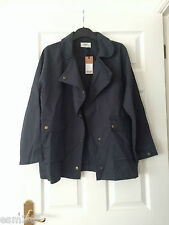 HUSH Clothing - Summer Parka Cotton Jacket Coat - Slate Blue Size 12 BNWT *NEW*
