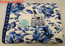 Martha Stewart Quilt Watercolor Rose FULL/ QUEEN Blue White Reversible 469