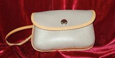 "Dooney & Bourke "" Taupe "" Signature Flap Wristlet Pebbled Leather New"