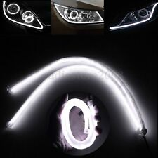 2x 60CM White LED Flexible Strip Light Car Daytime Running Lamp DRL Soft Tube
