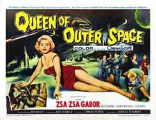 Queen Of Outer Space Poster 02 Metal Sign A4 12x8 Aluminium