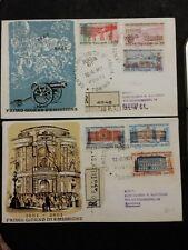 REPUBBLICA  LOTTO DI 2 BUSTE FDC UNITA' D' ITALIA 1961 ..