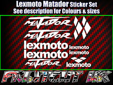 Lexmoto Matador Scooter Stickers / Decal Set *ALL COLOURS AVAILABLE* 50 125