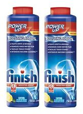 *2* New 14oz FINISH Power Up Lemon Scent Dishwasher Detergent Booster 5170085272