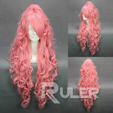 VOCALOI D-Megurine Luka PINK Anime Cosplay Party Wig Hair+1Clip On Ponytail