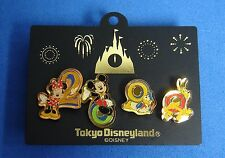 Mickey Minnie Donald Pluto Japan TDL 2000 Character 4 Pin Set Disney OC