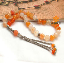 Natural Calcedony Gemstone 33 Islamic Muslim Tasbih Allah Rosary Prayer Beads