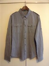 ALL SAINTS GREY STRIPED SHIRT SIZE XL BNWOT