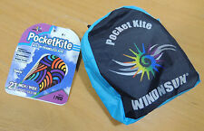 "Pocketkite WindNSun SWIRLS Frameless Kite 21"" Wide Nylon in Carrying Pouch"
