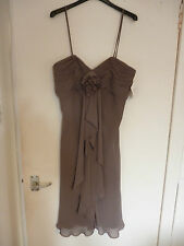 LADIES BROWN SHORT BRIDESMAIDS DRESS BY WATTER & WATTERS SIZE 10 NEW