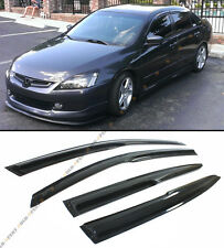 2003-07 7TH GEN HONDA ACCORD SEDAN JDM 3D WAVY SMOKE WINDOW VISOR RAIN/SUN GUARD