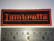 Lambretta SMALL BAR (ORANGE Text/Border) Patch - Embroidered - Iron or Sew On