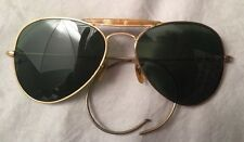 Vintage Ray Ban B&L WWII Aviator Sunglasses, 1/10 12K GF, Case, 1940's 50's