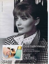 Publicité Advertising 016 1989 Estée Lauder Demi-Matte Makup