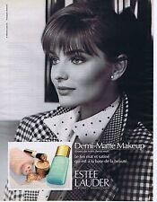 Publicité Advertising 016 1989 Estée Lauder Demi-Matte Makup